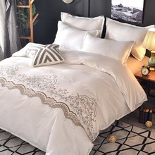 Pillowcase Bedding-Sets Duvet-Cover Bed-Sheets Home-Textile Geometric-Pattern Simple-Style