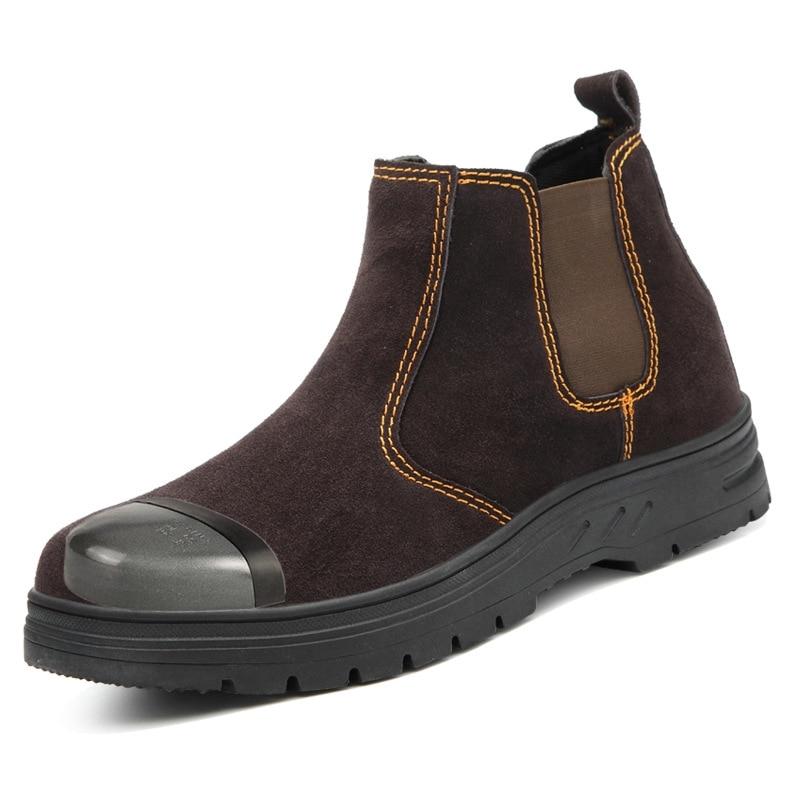 39~45 Men Work Boots Steel Toe Anti-smashing Anti-slip Men Safety Boots #KDJK004