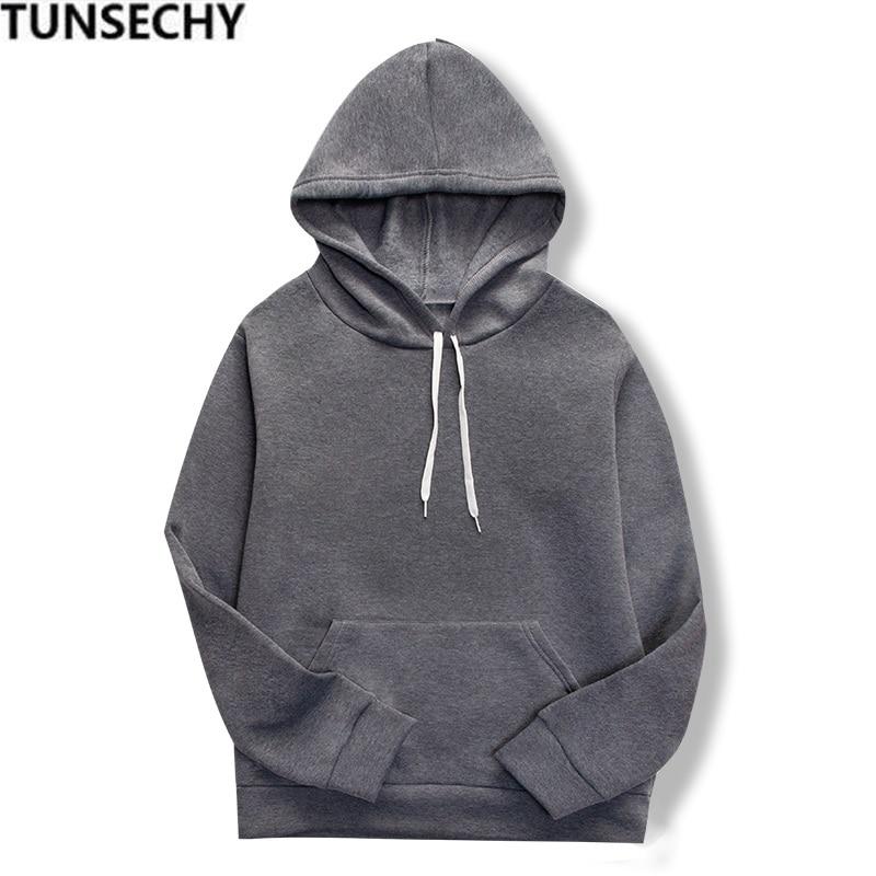 19 women's long-sleeved plain hooded sweatshirt plain multi-color men's and women's casual pullover hoodie 10