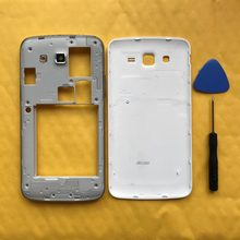 For Samsung Galaxy Grand 2 Duos G7102 G7106 Original New Phone Housing Middle Frame Chassis Case With Battery Cover Back Panel(China)