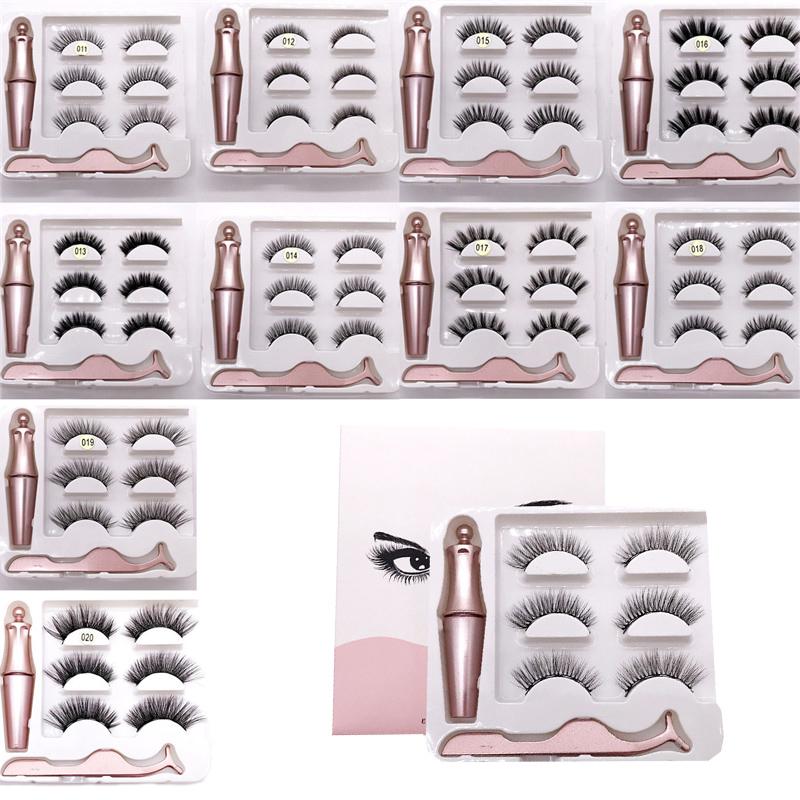 Magnetic Eyelashes 3D Magnetic Lashes Natural False Eyelashes Magnet Lashes Handmade Long Lasting Eyelash Extension Makeup Tools