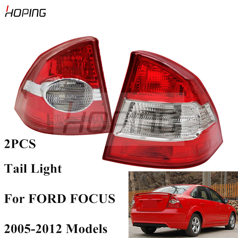 Hoping 2PCS Rear Tail Light Tail Lamp For <font><b>Ford</b></font> <font><b>Focus</b></font> Sadan / Saloon 2005 2006 2007 2008 2009 2010 2011 2012 <font><b>Taillight</b></font> Taillamp image