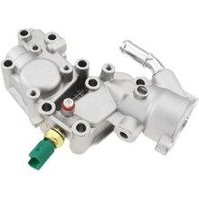 Samochód aluminiowa obudowa termostatu chłodziwa wody kołnierz dla Citroen BX C15 C3 MK Peugeot 1007 205 206 1336.Y8 9654775080