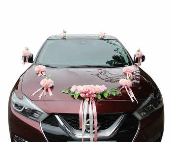 2019 New !! Wedding Car Artificial Flower Decoration Fake Flower Simulated Silk Flowers for Crafting Wedding Center Flowers