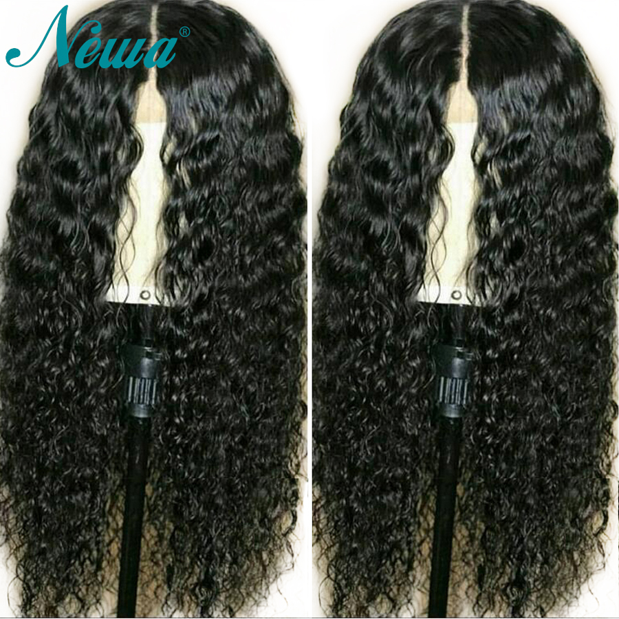 Newa Hair 360 Lace Frontal Wig Pre Plucked With Baby Hair Water Wave Brazilian Remy Lace