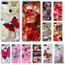 Mobile Phone Case For Huawei Y6 Y7 Y9 Mate 10 20 Pro Lite Nova 2i 3i 5i 2 3 4 Cover Red Blank Roses Flower Cover Shell TPU(China)