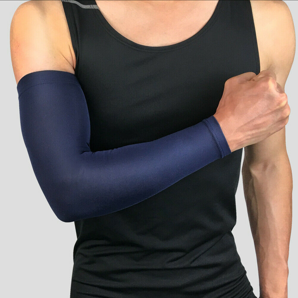 2020 HOT 1Pcs Soft Elastic Elbow Arm Warmers Protection Pad Cycling Basketball Long Arm Sleeve Sports Safety Elbow Support