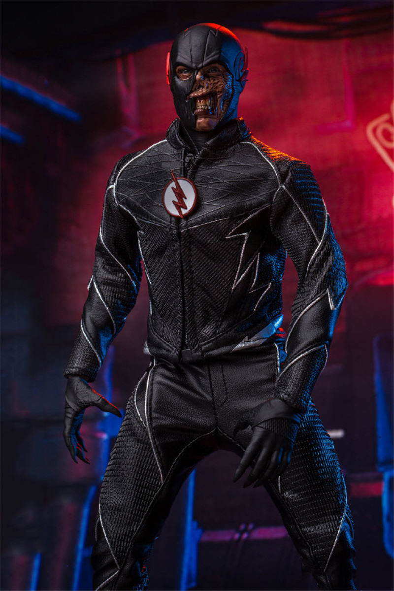 Sst010 1 6 Scale Collectible Full Set Dark Speedsters Black Flash Action Figure With Original Box Doll Model For Fans Gifts