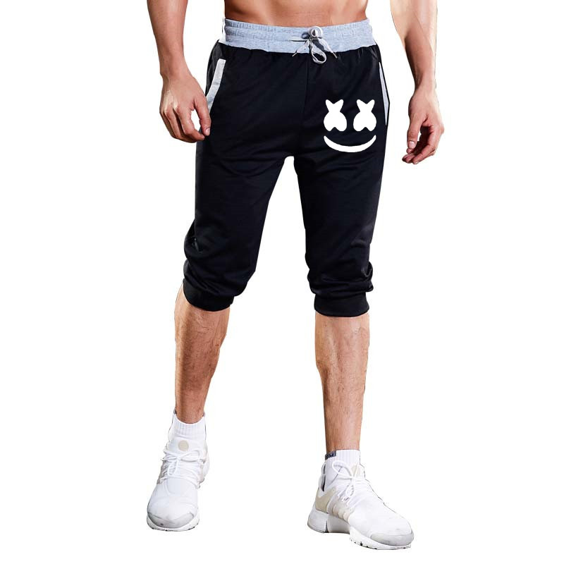 Hot Selling Brand Summer MEN'S Beach Pants Casual Mixed Colors Zipper Shorts Capri Breathable Training Pants Athletic Pants