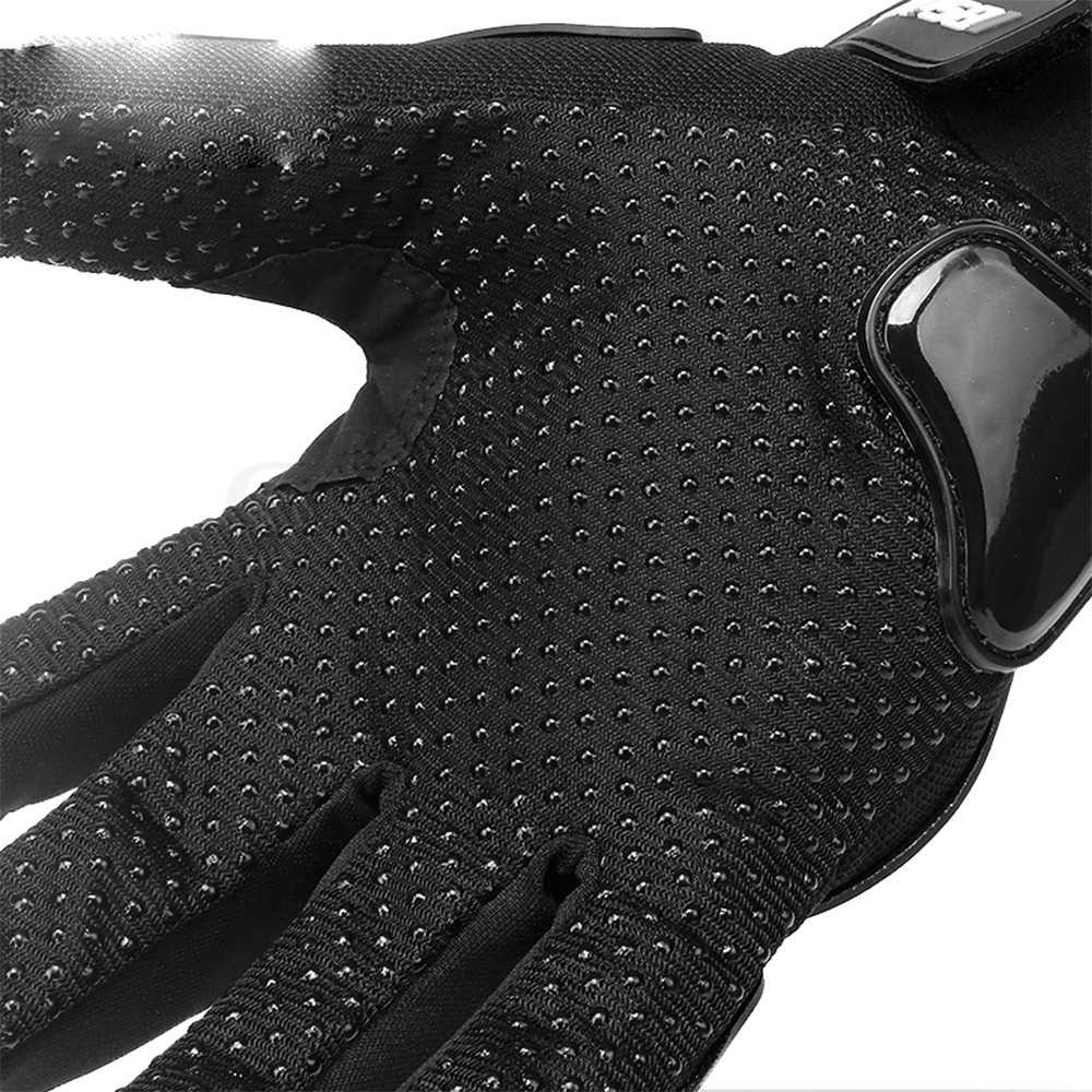 Guantes universales de motocicleta negro de carreras de cuero genuino motocicleta blanca Road Racing equipo guante hombres verano invierno para yamaha r1