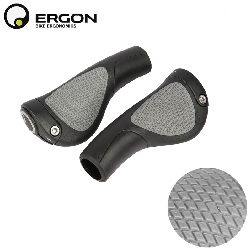 Ergon GP1 Rubber Compound Grips For Mountain Bike Small Touring /& Commuting