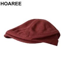 SHOWERSMILE Irish Cap Spring Summer Canvas Flat Cap for Men Burgundy Beret Hat 1