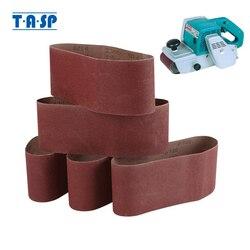 TASP 5pcs Abrasive Sanding Belt 100x610mm Belt Sander Sandpaper Aluminium Oxide Woodworking Power Tools Accessories