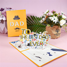 Fathers Day Card 3D Pop-Up Birthday Greeting Cards for Dad