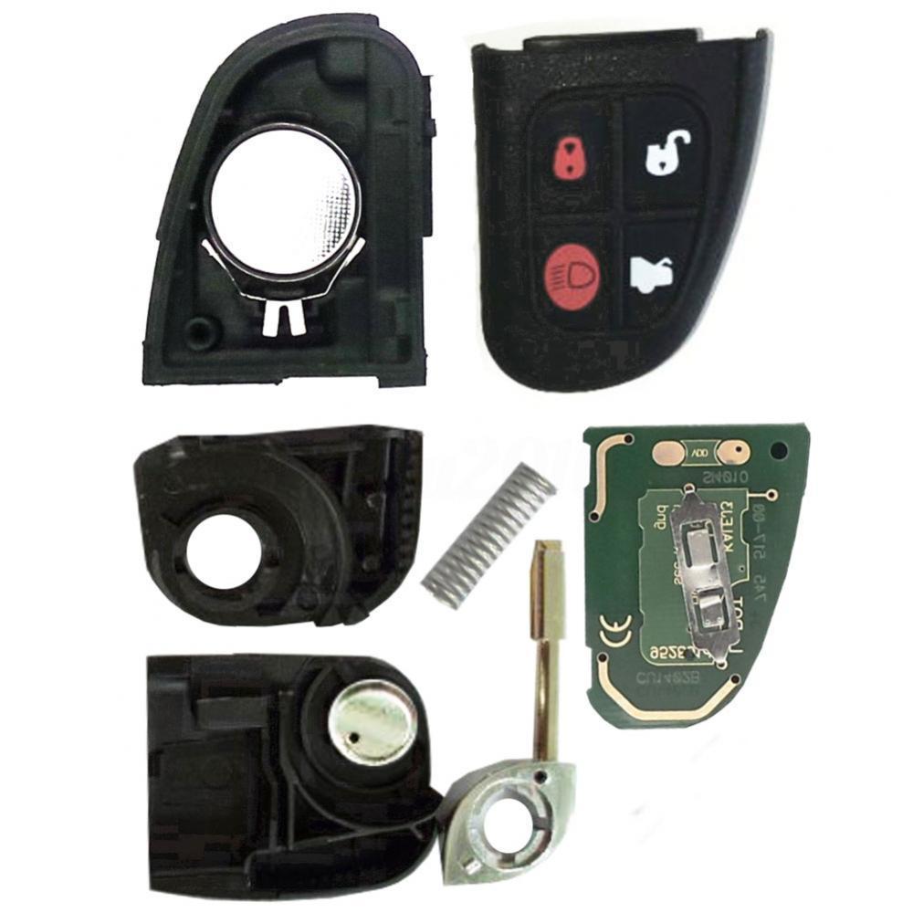 80% Лидер продаж 4 кнопки Автомобильный Брелок дистанционного управления с ключом 433 МГц 60 Стекло чипа для Jaguar X S XJ