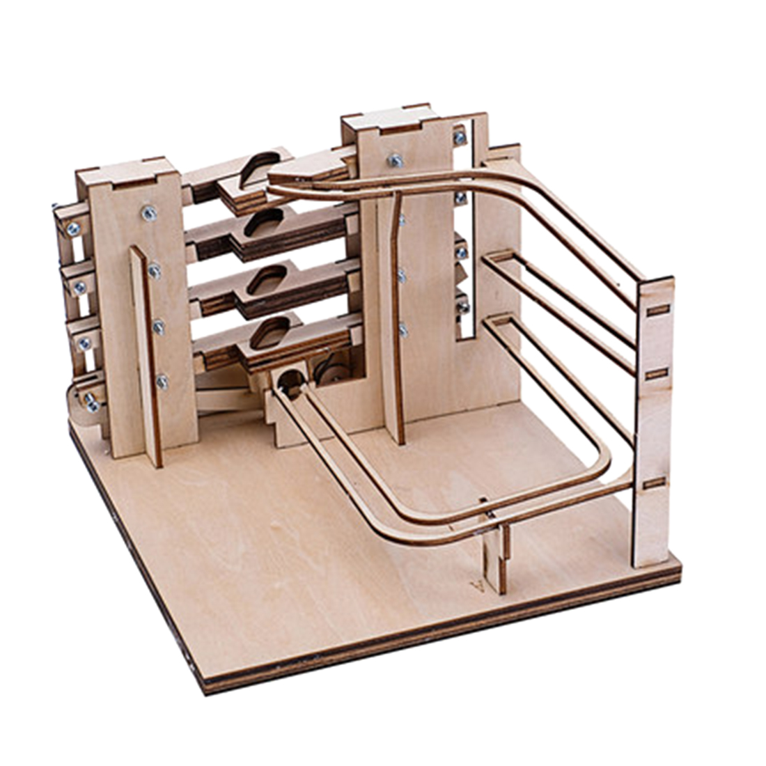 3D Wooden Puzzles DIY Marble Run Assembly Model Building Kits Assembly Model Toy Gift For Chrismtas