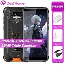 Oukitel wp5 5.5 hd hd hd + 18:9 ip68 & ip69 impermeável 4gb 32gb android 9.0 quad core 13mp mt6761 8000mah tri-prova 5v/2a telefone móvel