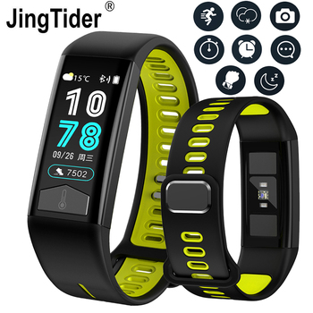 696 T02 Temperature Smart Bracelet Waterproof Heart Rate Blood Pressure Smart Watch ECG Monitor Wristband for Android IOS