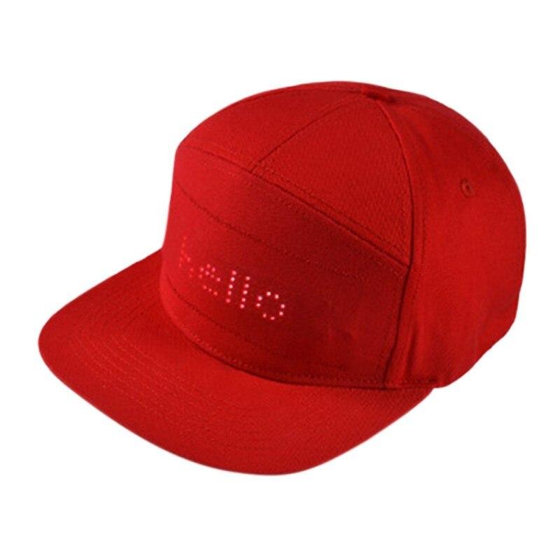 Мужские и женские шляпы в стиле хип хоп, светодиодный Bluetooth, программируемая Кепка для чтения сообщений, бейсбольная кепка в стиле хип хоп, в...