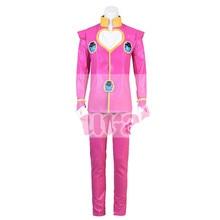 купить Anime JoJo's Bizarre Adventure Giorno Giovanna Cosplay Costume Uniform Men Clothing Halloween Free Shipping B дешево