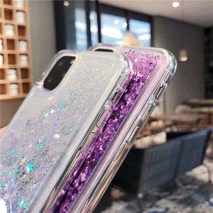 Image 3 - Para iPhone 11 pro max funda de teléfono con purpurina arena líquida arenas movedizas estrella funda de teléfono suave de silicona para Xs max X 6 7 8 Plus