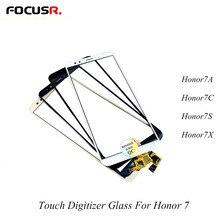 Repuesto de cristal exterior para Huawei Honor 7A 7C 7X 7S, Digitalizador de pantalla táctil LCD, Panel táctil para teléfono móvil