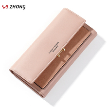 YIZHONG Fashion Leather Long Womens Wallets and Purses Hasp