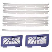 2 filtros hepa + 6 lâminas compatíveis e 1 rodo de borracha substituição para neato xv 11 xv 12 xv 14 xv 15 xv 21 xv assinatura pro vácuo|Peças p/ aspirador de pó| |  -