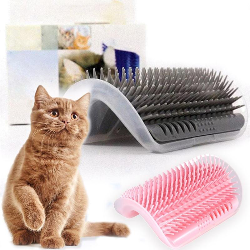 Catnip Angle Brush Comb Cat Scratch Board Scratcher Scratching Cat Grooming Supply Face Tickling Massage Cat Grooming Accessary