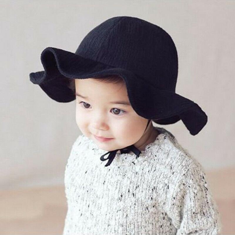 Toddler Infant Fedoras Summer Outdoor Baby Girls Boys Sun Beach Cotton Wide Side Long Rope Hat For  Little Gentleman