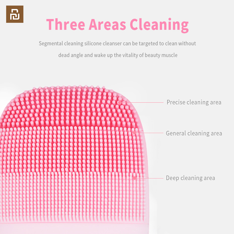 Image 3 - Youpin inFace Smart Sonic Clean Electric Deep Facial Cleaning Massage Brush Wash Face Care Cleaner RechargeableSmart Remote Control   -