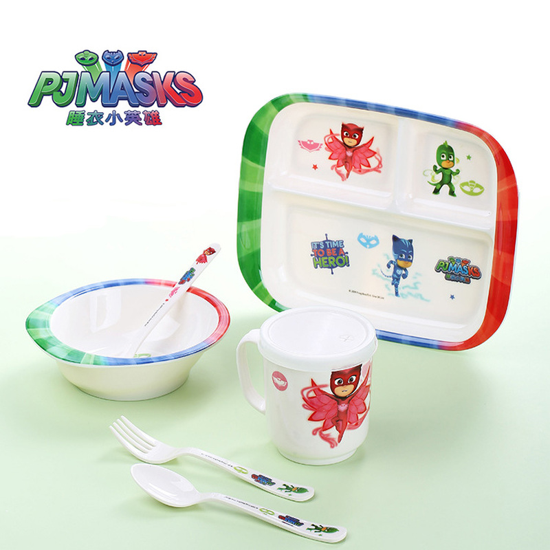 PJ MASKS Toys Original Dinnerware Tableware Knife Fork Spoon Flatware Dishwasher Cutlery Gift Kitchen Tableware Sets For Kids