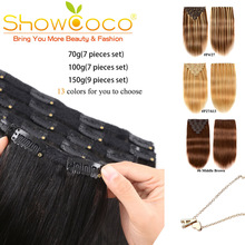 Hair-Extensions Hair-Lifelike Clip Human-Hair-70g with 100G 150G 13-Colors Machine-Made