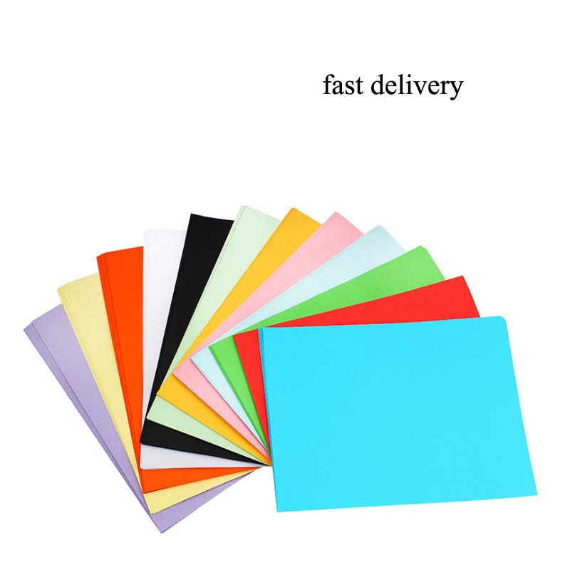 Colorful Copy Paper  A4 Print Copy Paper Hand-off Drawing Paper Office Supplies Colored Paper100 Sheets