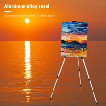 Aluminum Alloy Tripod Display Bracket Folding Telescopic Studio Painting Easel for Outdoor Travelling Accessories