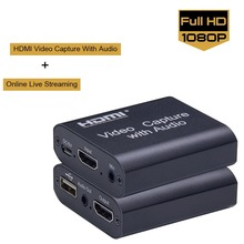 Erilles USB Capture HDMI 4K60Hz Video Capture HDMI USB Video Capture Card Dongle Game Streaming Live Stream Broadcast MICinput