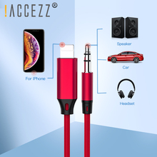 !ACCEZZ Car Audio Cable For iphone X XS MAX XR 7 8 Plus AUX Cable Connector 3.5mm Jack Port Headphone Speaker Adapter Cable Line taralabs prism helix 8 speaker cable selling meter per