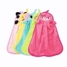 Новое милое детское полотенце для рук, довольно мягкое плюшевое ткань, мультяшное животное, подвешивающее полотенце для купания, Распродажа по всему миру