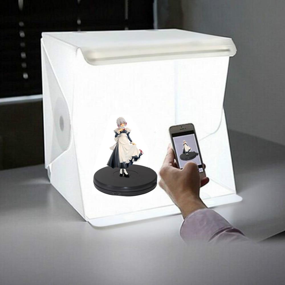 Caja de luz plegable LED caja de luz de brillo de estudio de fotografía portátil para sesión de mesa de cámara DSLR Collar con foto personalizada con imagen grabada personalizada y colgante de joyería para mujer