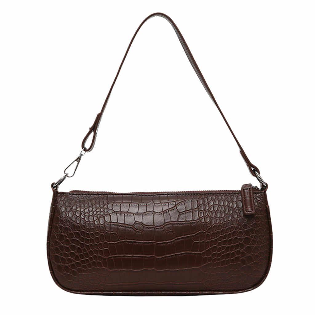 المرأة حقيبة كتف بولي Leather الجلود الصلبة حقيبة ساعي السيدات عادية زيبر حقيبة كتف الإناث حقيبة يد للسفر كيس فام الرئيسي 2020