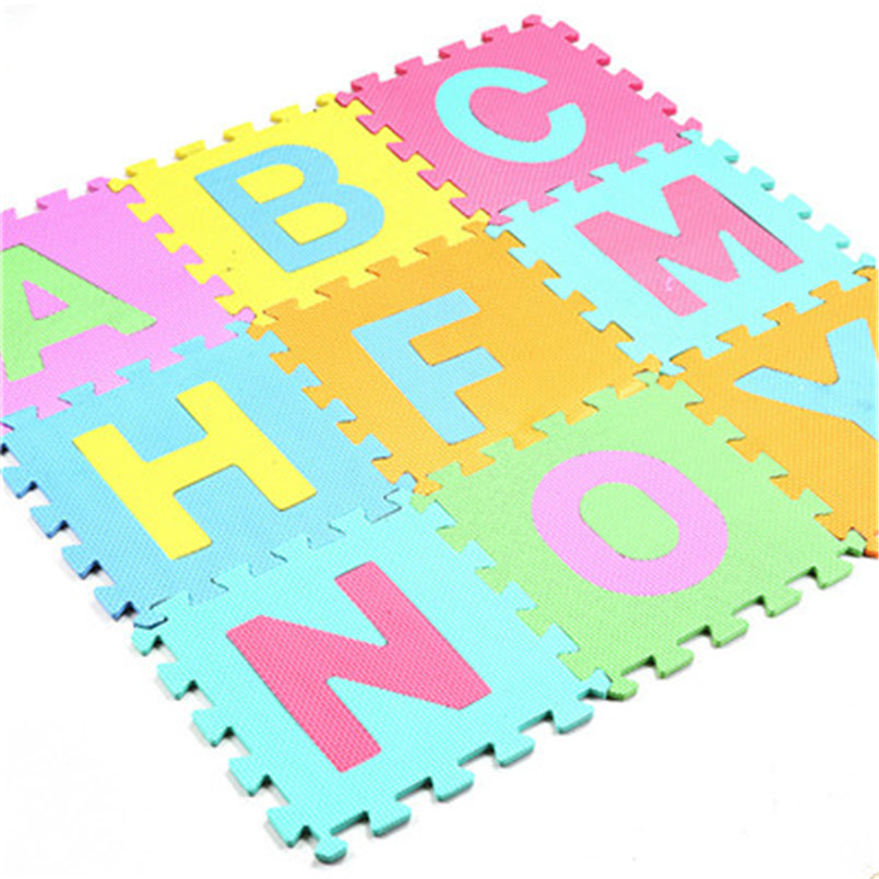 Hb8d327425c2048c887b49c60ae755310F 30*30cm Foam English Alphabet Number Pattern Play Mat For Baby Children Puzzle Toy Yoga Letter Crawling Mats Rug Carpet Toys