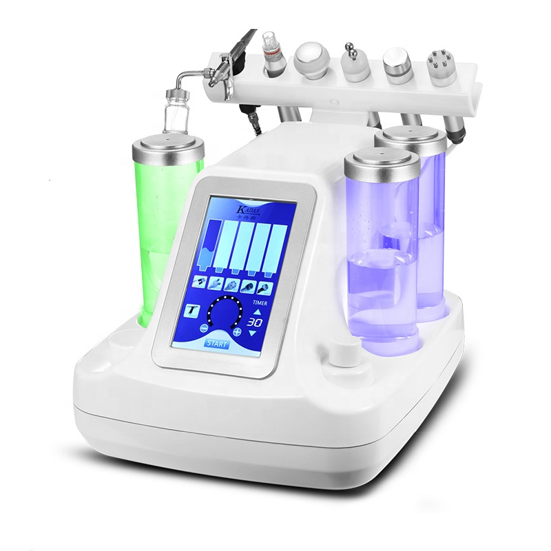 2019 NEW HOT SOLD ! Wholesale Hydro Dermabrasion 6 In1 H2O2 Water Oxygen Jet Peel Ultifunction Ultrasonic Facial Beauty Machine