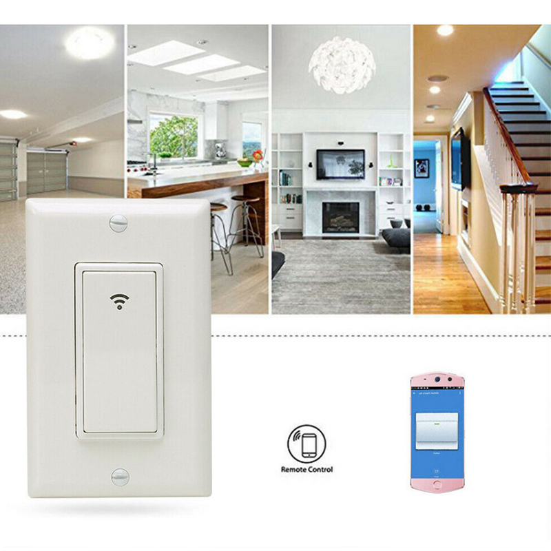 Alexa Voice Control Practical US 118 Smart Switch WiFi Smart Switches Wall Light Remote Control
