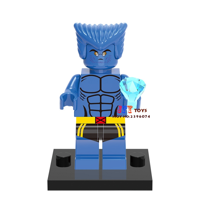 Single Sale Superhero X Men Beast Hank Building Blocks Model Bricks Toys For Children Action Figures