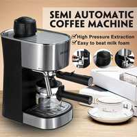 220V Semi automatic Steam Type Espresso Machine Cappuccino Coffee Maker Coffee Machine Espresso Portable Coffee Maker