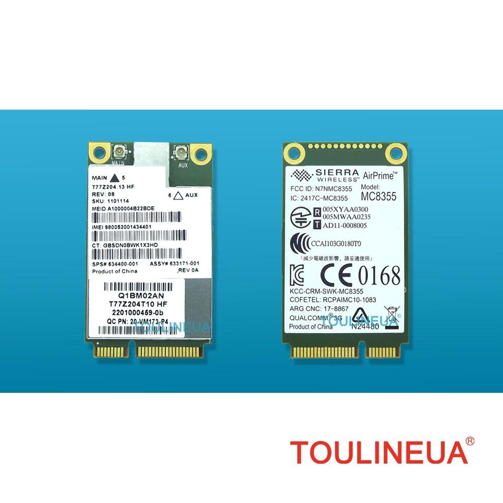 Sierra Wireless 3G Card MC8355 Gobi3000 HS2430 HSPA EV-DO REV A 14Mbps//3.1Mbps SPS 634400-001 for HP