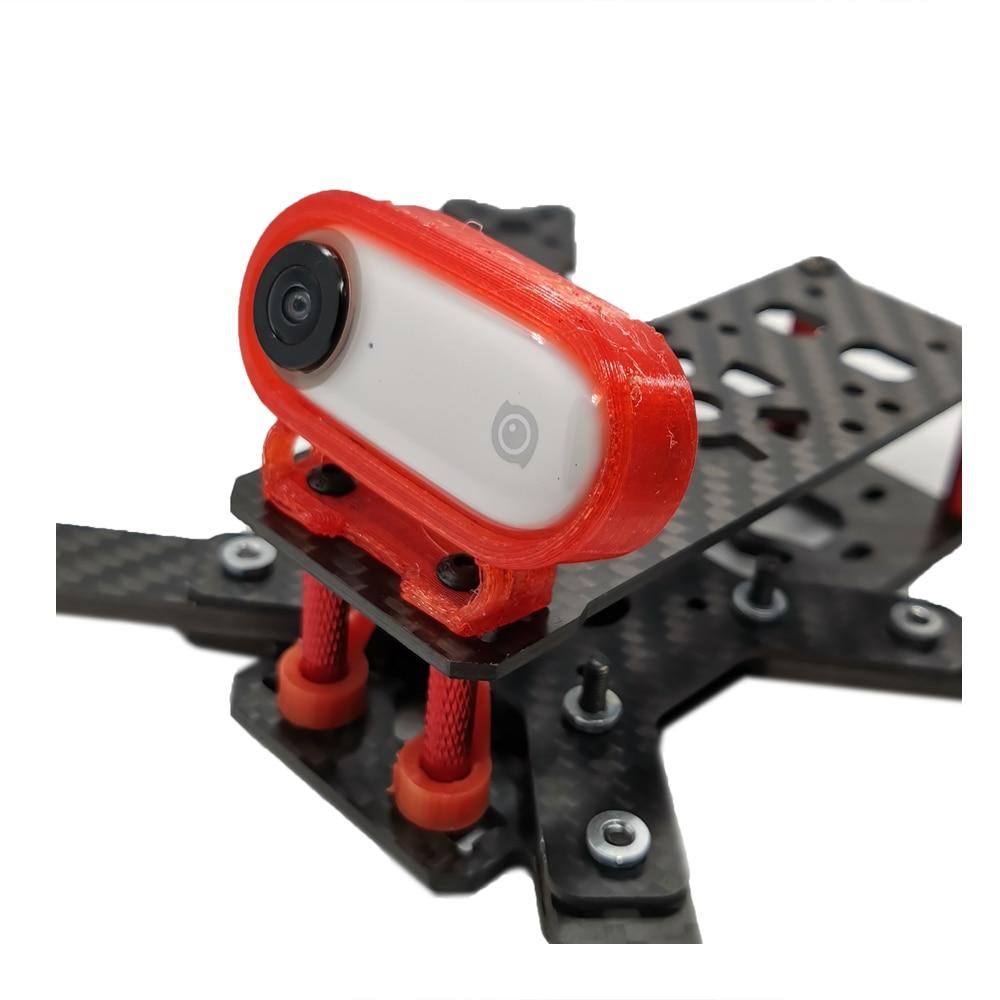 Quadro de montagem tpu para insta360 ir câmera esportiva para fpv racing drone quadcopter peças