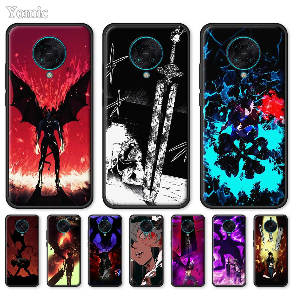 Silicone Case For Xiaomi Redmi Note 8 8T 9S 9 K20 Pro K30 Zoom 8A 7 6 Soft Black Phone Cover Shell Black Clover Asta Demon