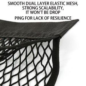 Image 4 - ネットグリッドポケットホルダーカーアクセサリートランク収納袋メッシュネット自動車スタイリング荷物ステッカーインテリアオーガナイザーものネッティング