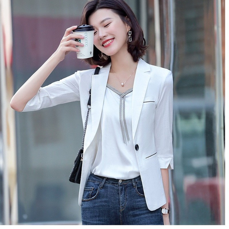 2020 spring and summer fashion professional jacket feminine Casual Short Ladies Blazer Office interview small suit high quality